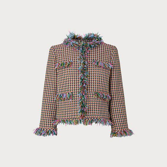 Conilia Raw Edge Tweed Jacket