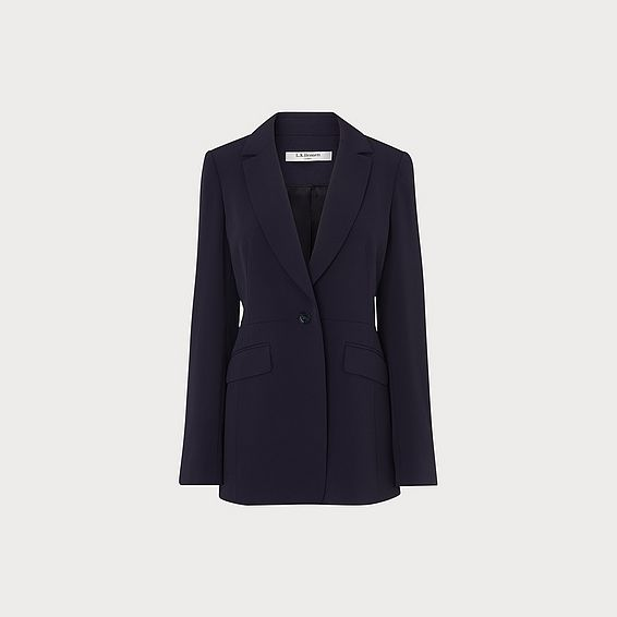 London Navy Crepe Jacket