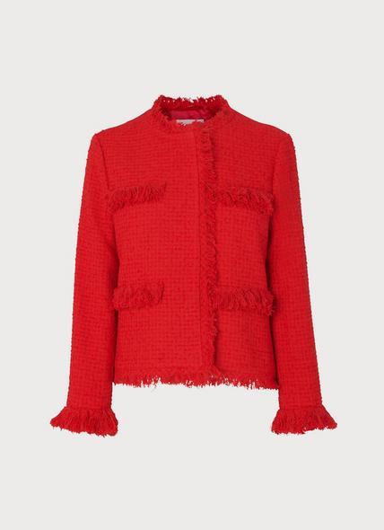 Myia Red Tweed Jacket