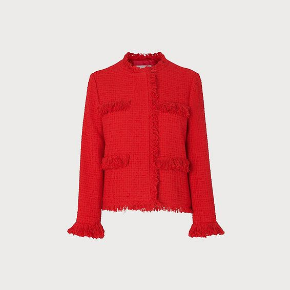 Myia Red Tweed Jacket