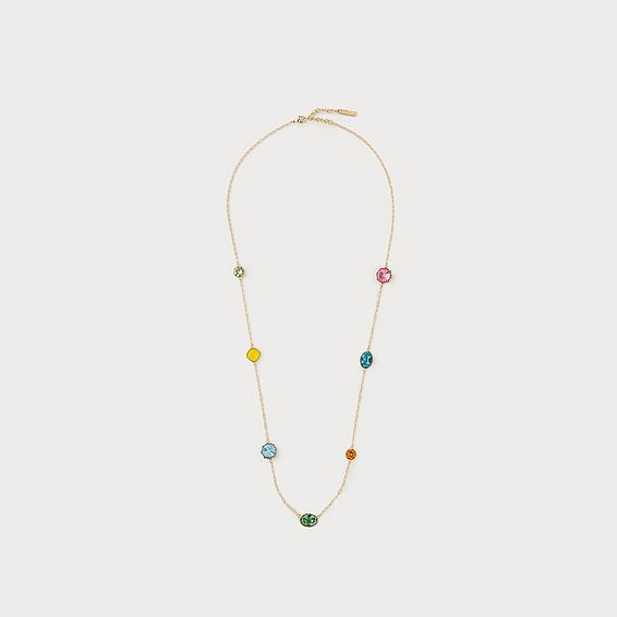 Loraine Rose Crystal Necklace