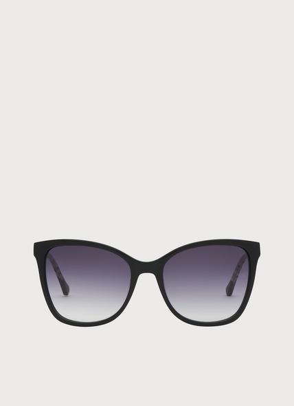 Imogen Black Oversized Sunglasses