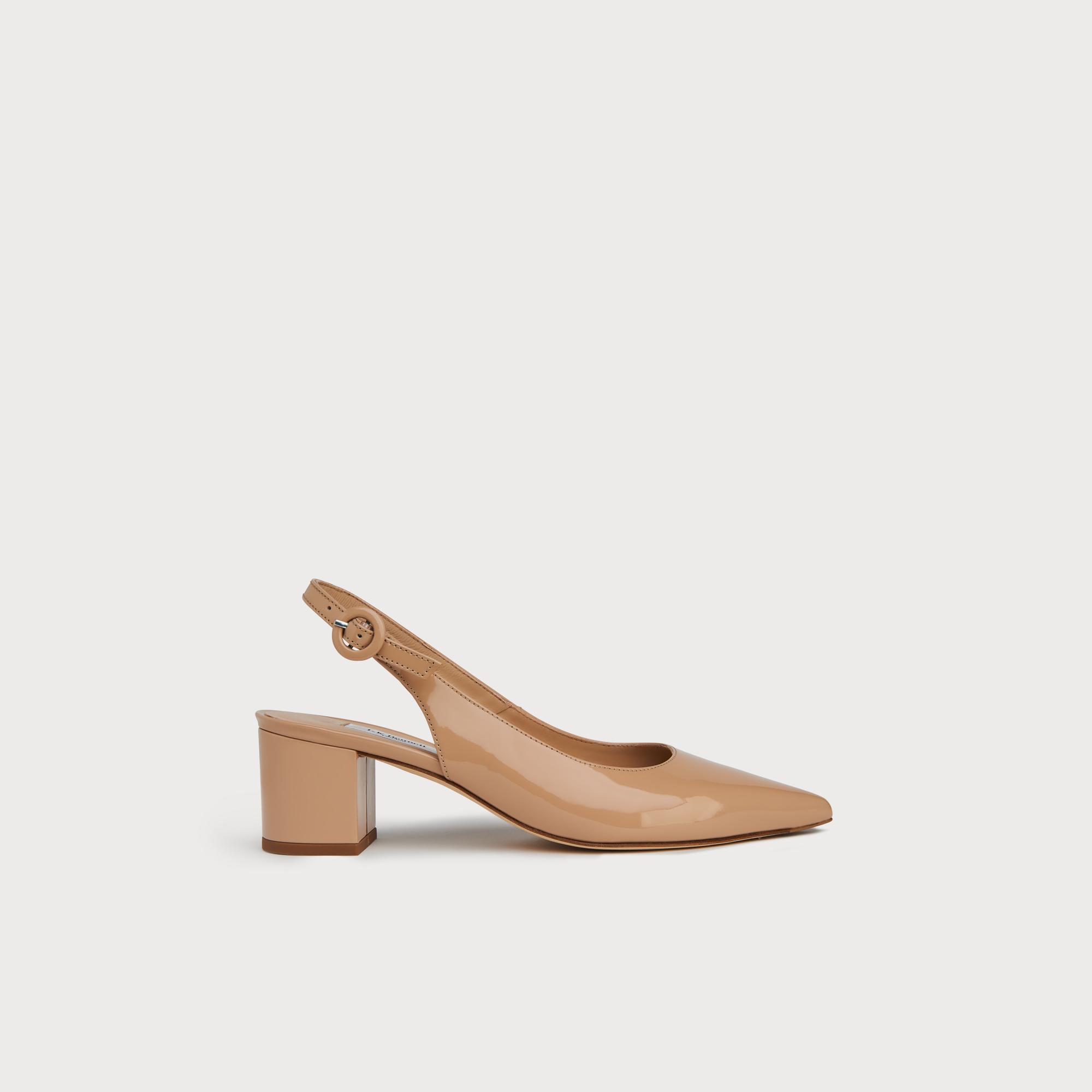 30261849dd Ada Beige Patent Slingbacks | Shoes | L.K.Bennett