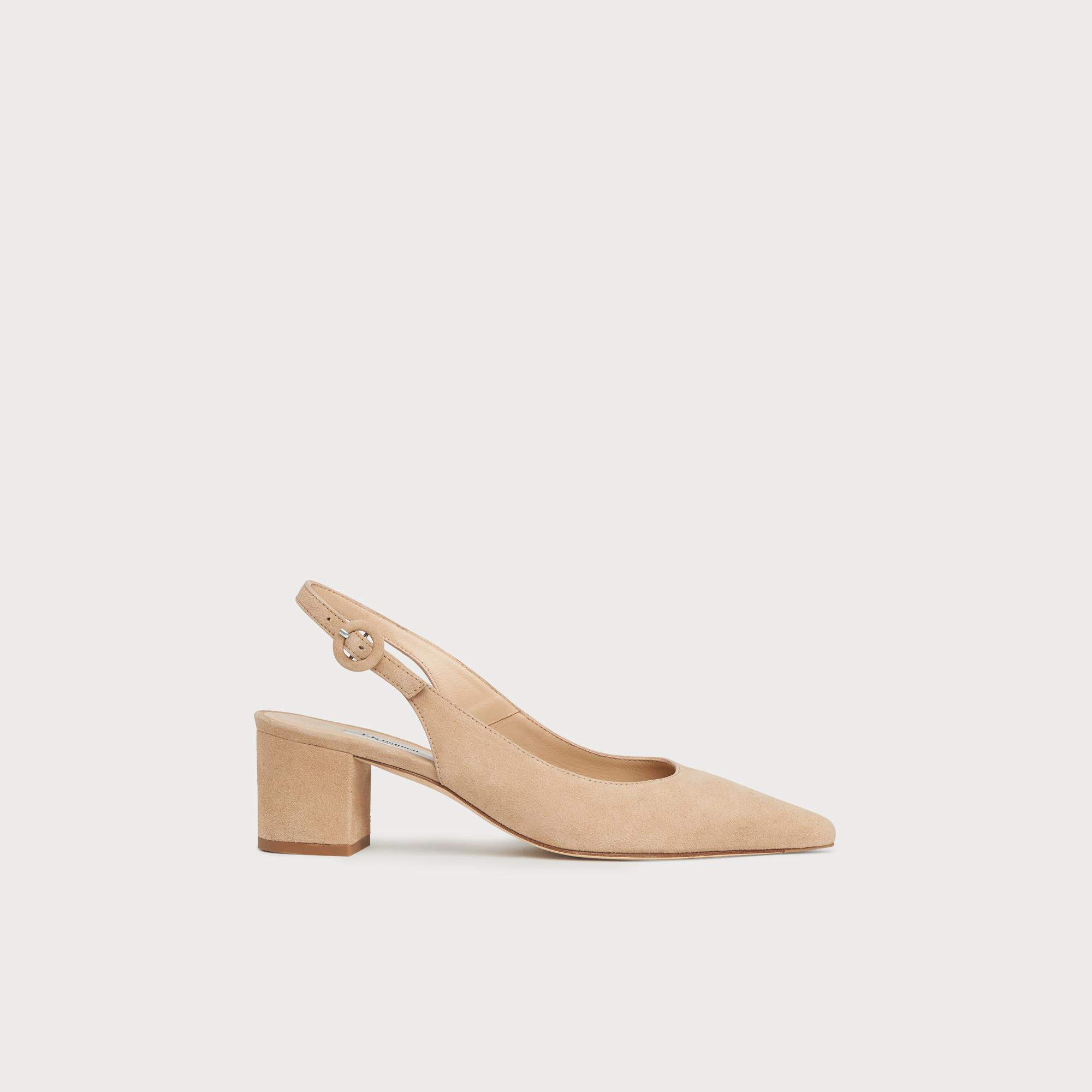 6062160069 Ada Beige Suede Block Heel Slingbacks | Shoes | L.K.Bennett
