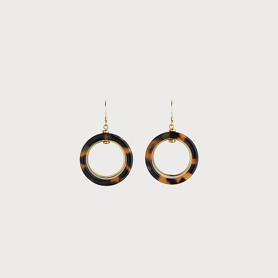 Jordan Tortoiseshell Drop Earrings