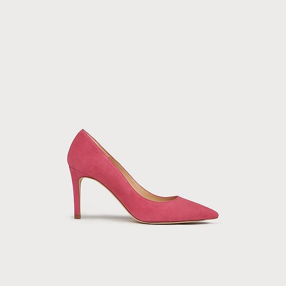 4a8df9d1ce0 Floret Pink Suede Pointed Toe Courts