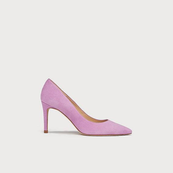 Floret Lilac Suede Pointed Toe Courts
