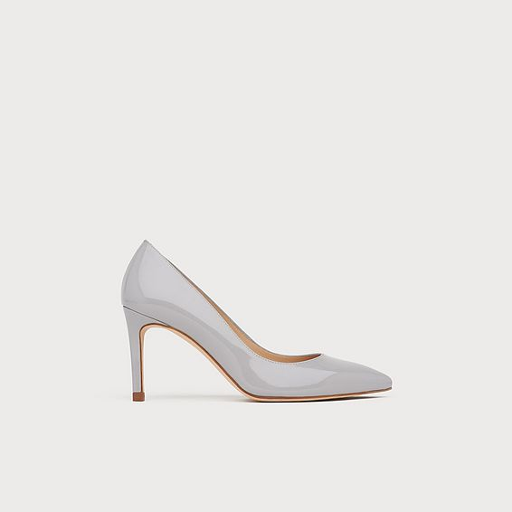 Floret Grey Patent Pointed Toe Courts