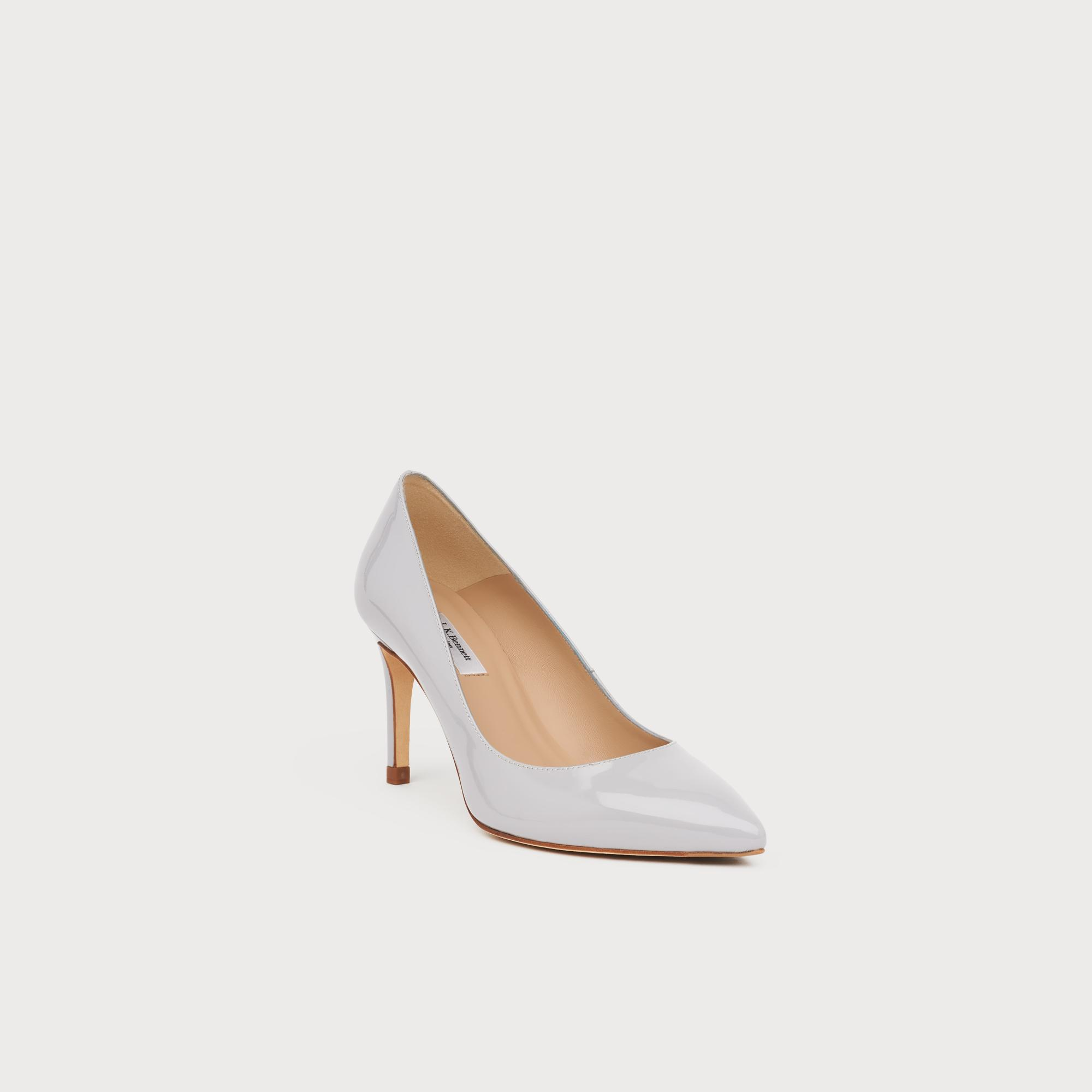 2bae635fe30 Floret Grey Patent Pointed Toe Courts