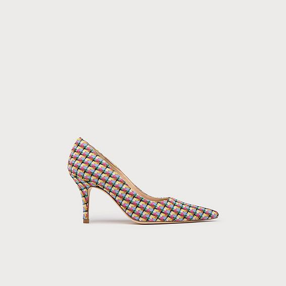 Harmony Blue Tweed Pointed Toe Courts