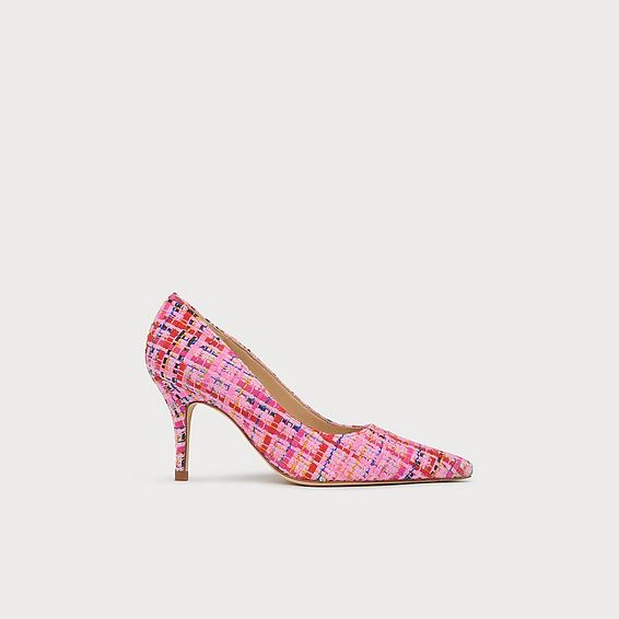 Harmony Pink Tweed Pointed Toe Courts