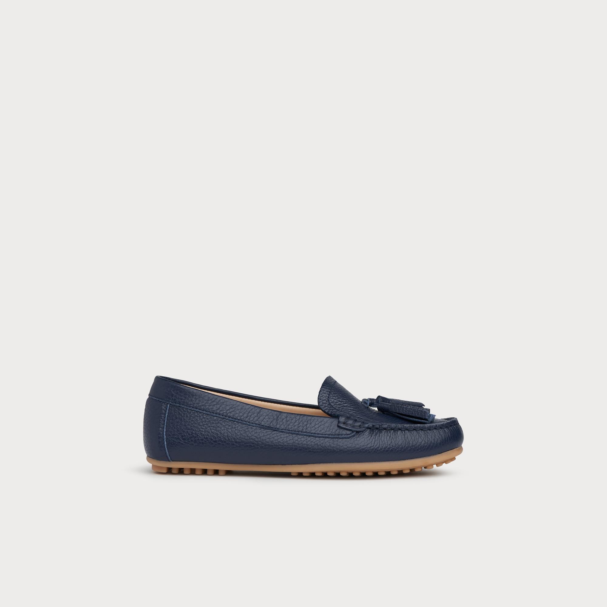 dffc73c08beed Paloma Navy Leather Driver Loafers | Shoes | L.K.Bennett