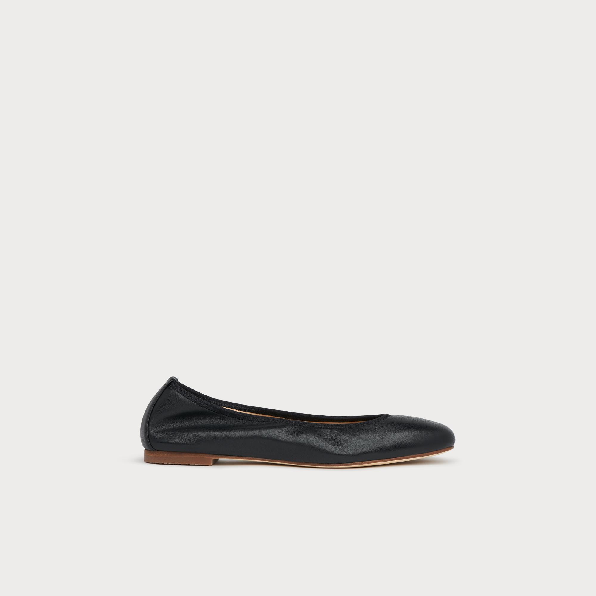bcdf87c37c654 Trina Black Leather Ballet Pumps | Shoes | L.K.Bennett
