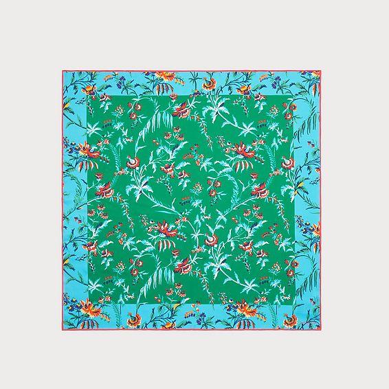 Sicily Green Silk Scarf