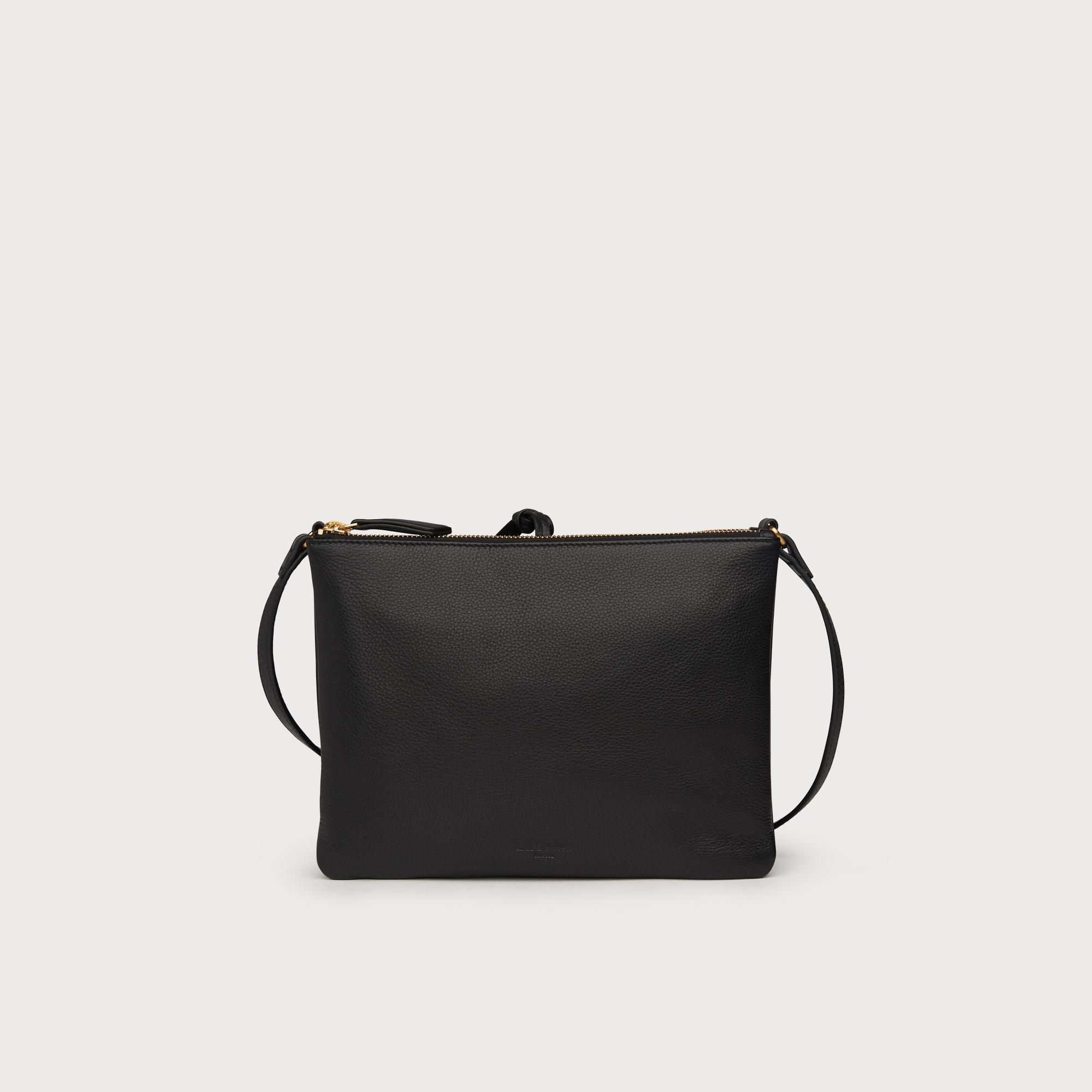 1d6938444c6d Benedetta Black Leather Shoulder Bag