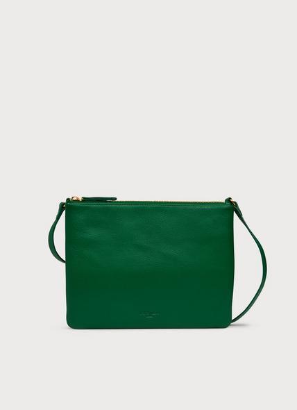 Benedetta Green Leather Shoulder Bag