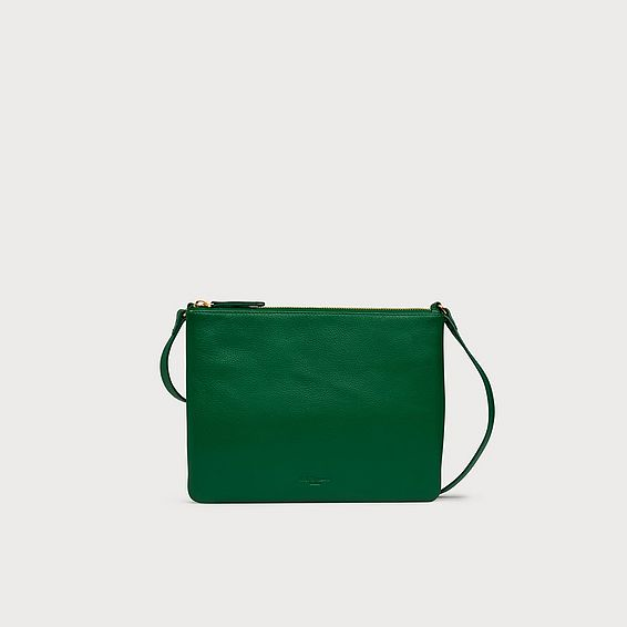 Benedetta Green Leather Shoulder Bag