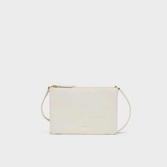 Bene Cream Leather Shoulder Bag