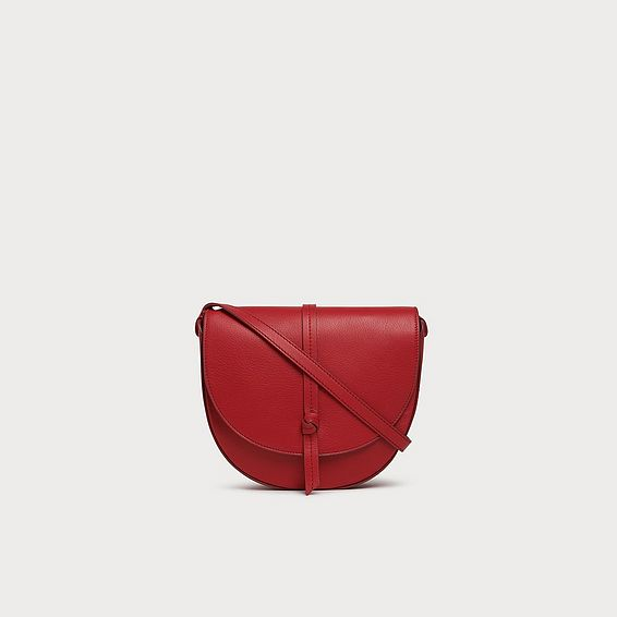 Bluebell Red Leather Crossbody Bag