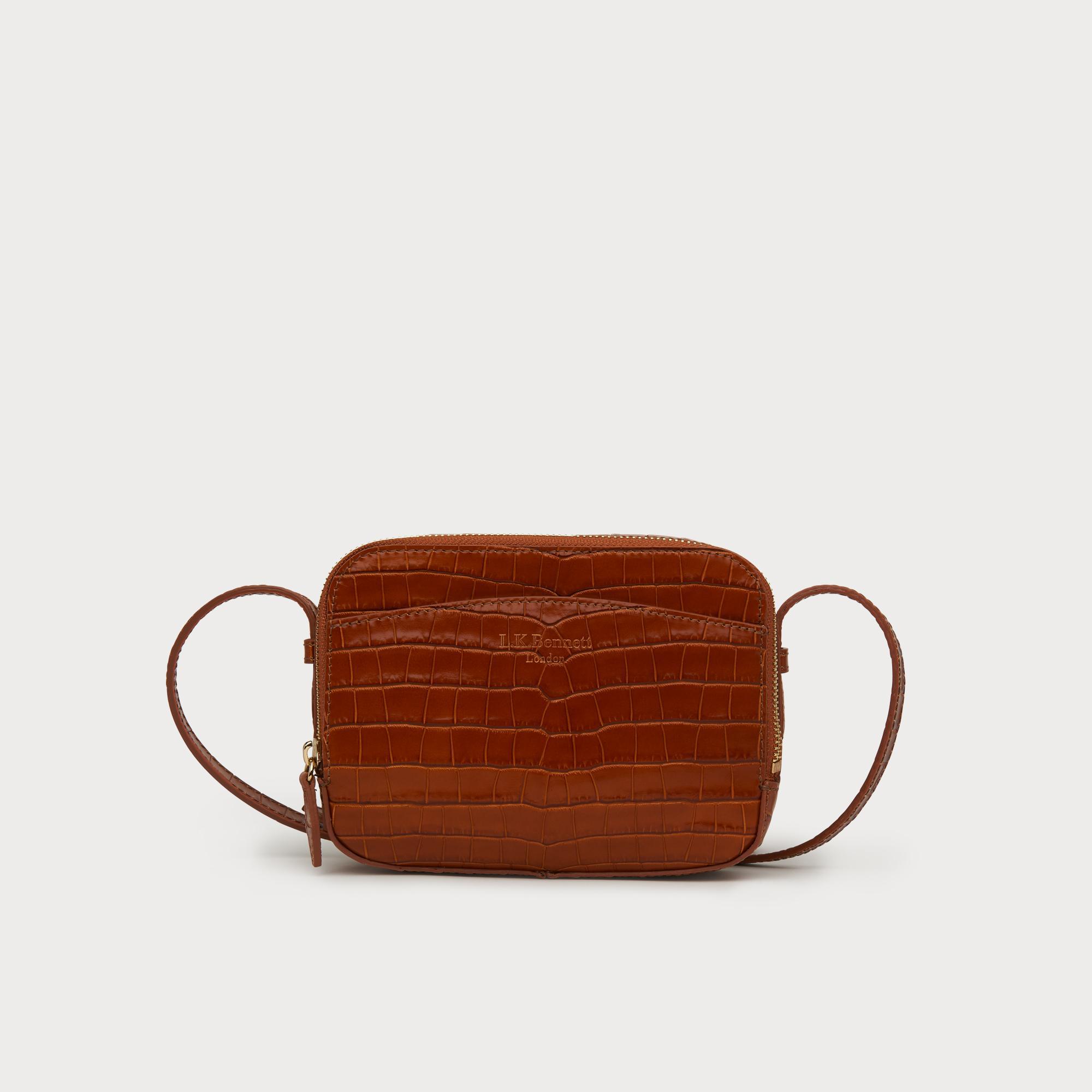 29445b2562c5 Mariel Tan Croc Effect Shoulder Bag | Handbags | L.K.Bennett