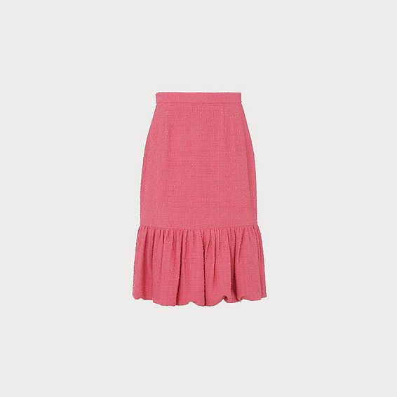 Ainsley Pink Tweed Pencil Skirt
