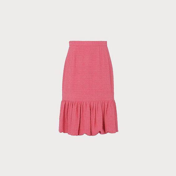 Ainsley Pink Tweed Pencil Skirt