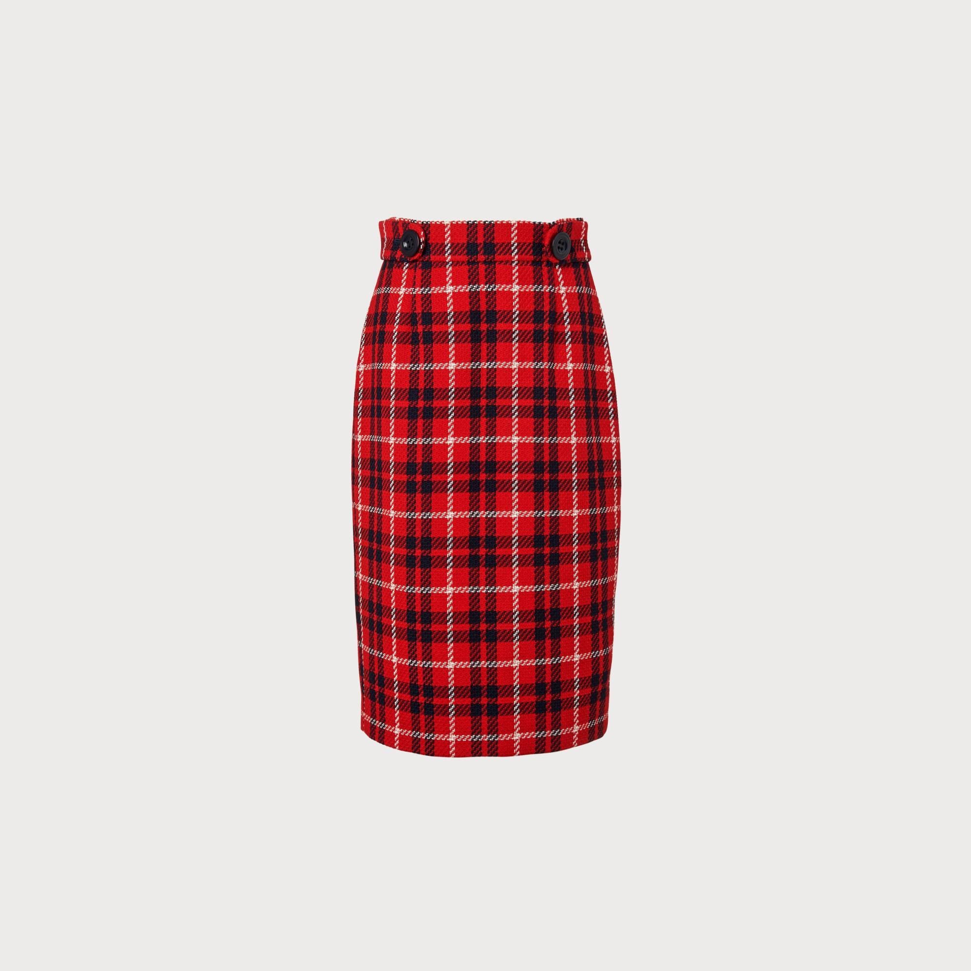 989516e803f8 Miroe Red Check Skirt | Clothing | L.K.Bennett