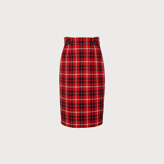 Miroe Red Check Skirt