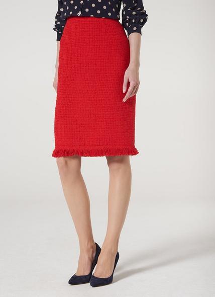 Myia Red Tweed Skirt