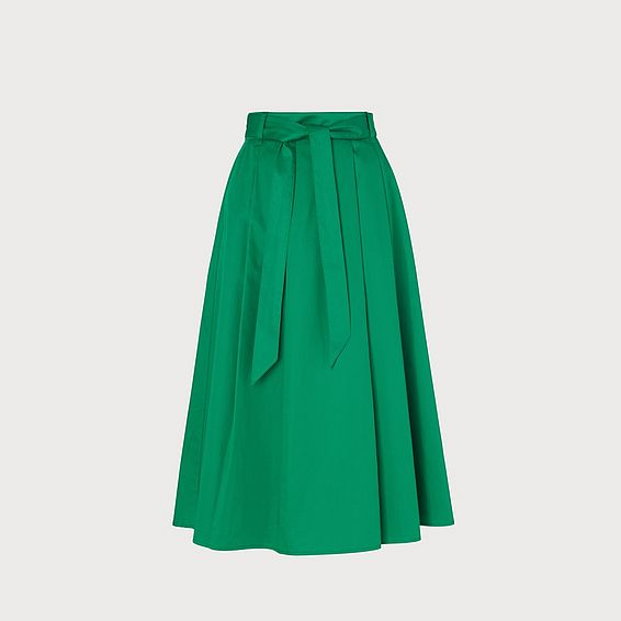 Susanna Green Cotton Skirt