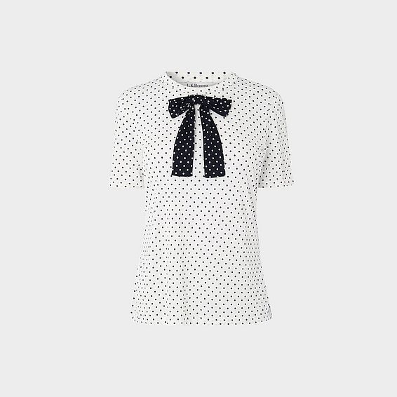 Bow Polka Dot T-Shirt
