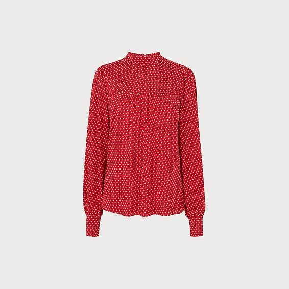 Mabyl Red Polka Dot Jersey Top