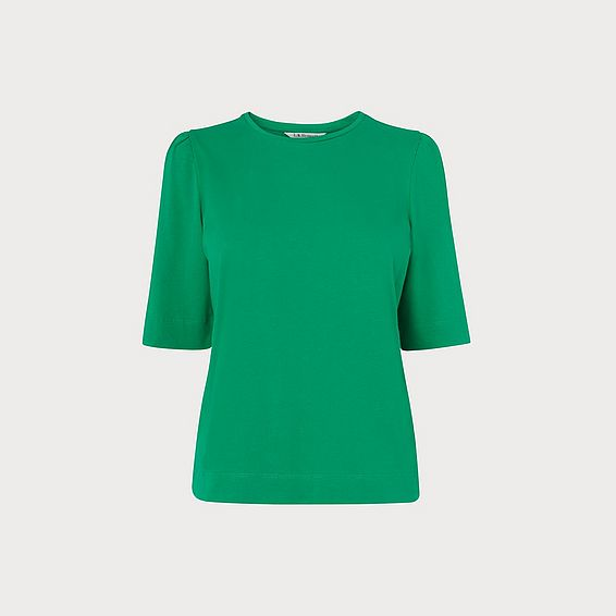 Saigon Green Ruched Sleeve T-Shirt