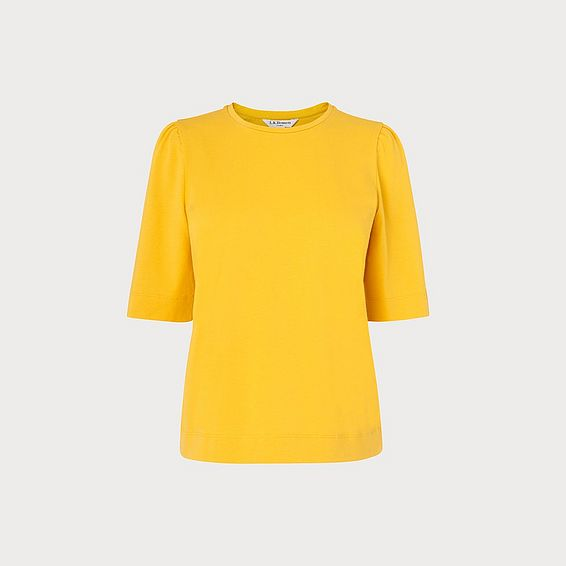 Saigon Yellow Ruched Sleeve T-Shirt