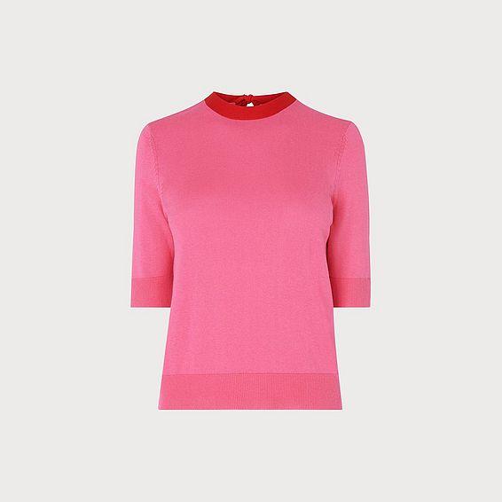 Adie Pink Silk Cotton Jumper 95161623e