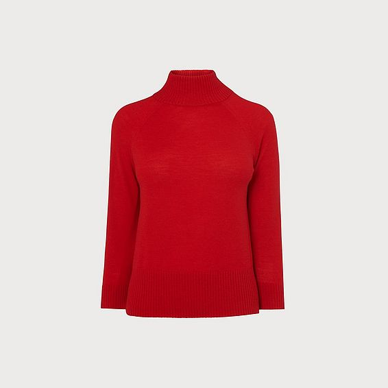 Brett Red Merino Wool Jumper