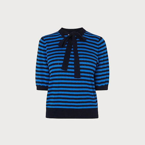 Colette Stripe Silk Cotton Jumper
