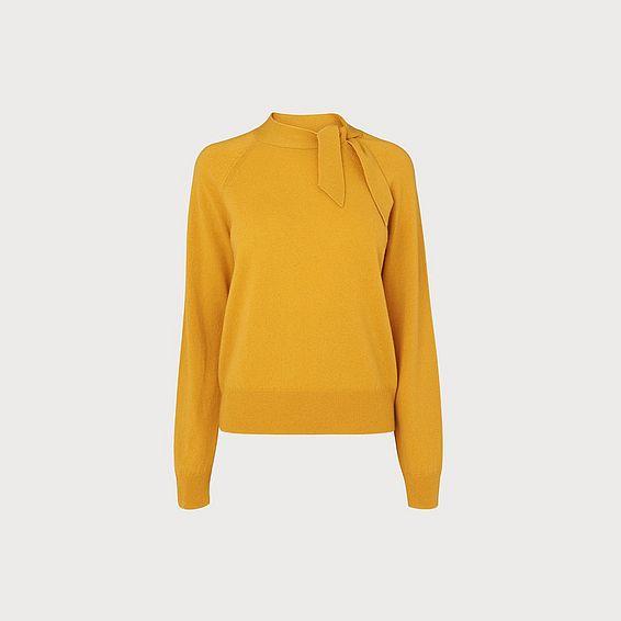 Elliott Yellow Wool Cashmere Jumper
