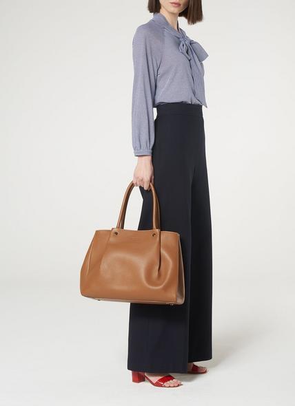 Regan Tan Leather Tote Bag