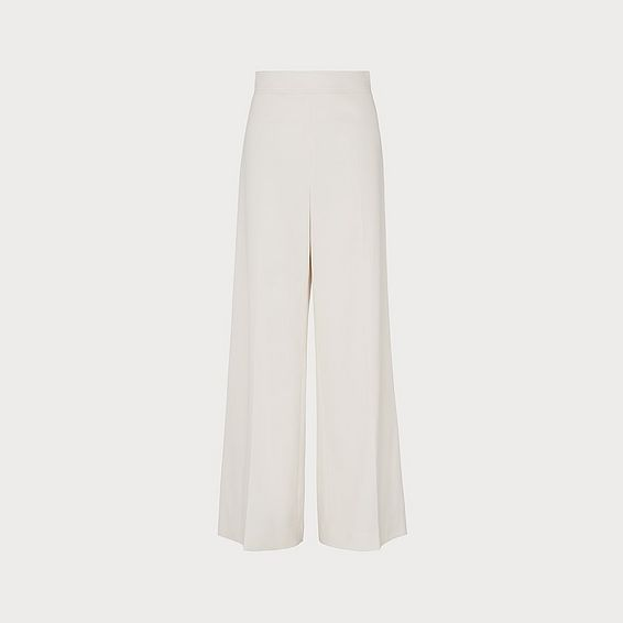 Arna Cream Wide-Leg Trousers