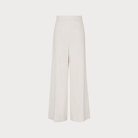 Arna Cream Wide-Leg Trousers