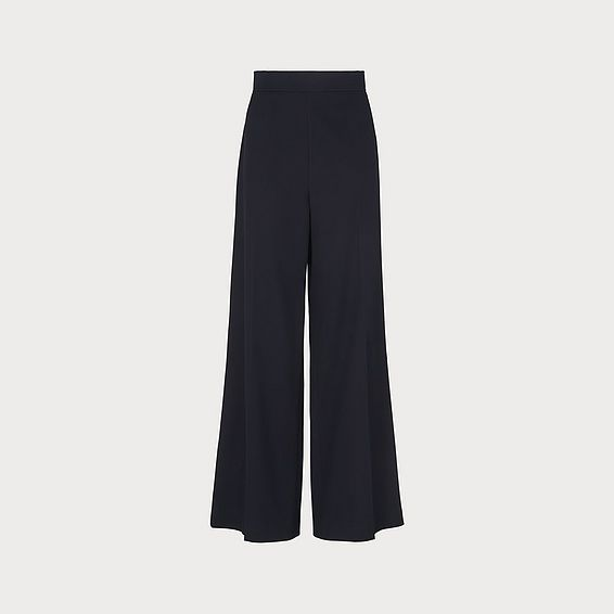 Arna Navy Wide-Leg Trousers