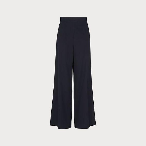 Arna Navy Wide-Leg Trousers