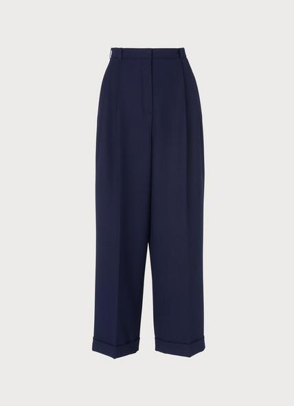 Corey Navy Wool Blend Trousers