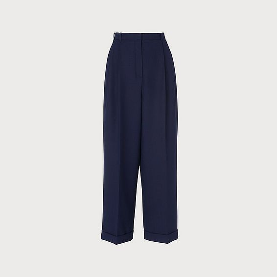 Corey Navy Wool Blend Trousers