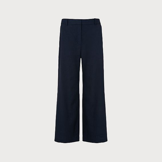 Lil Navy Cotton Linen Trousers