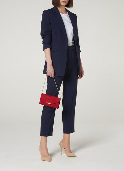 London Navy Crepe Trousers