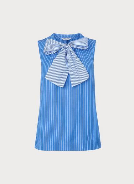 Alela Blue Stripe Cotton Top