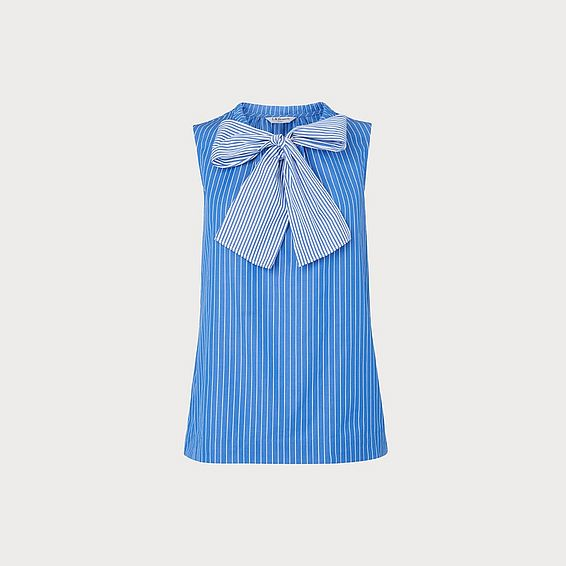 Alela Blue Stripe Cotton Top