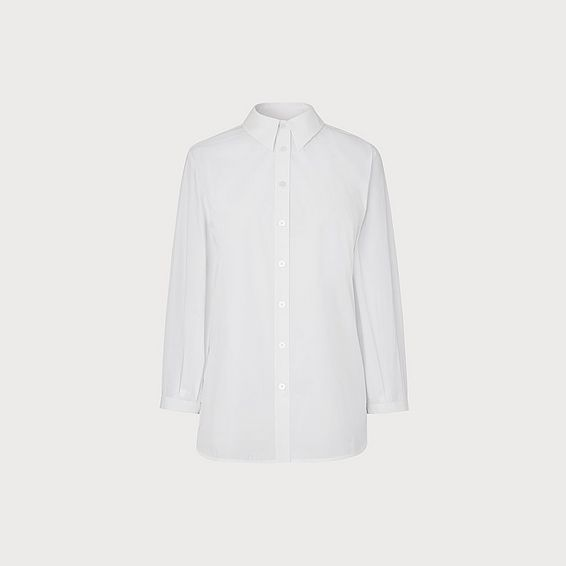 Emin White Cotton Shirt